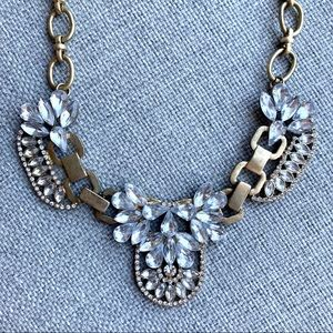 2/$25- Jeweliq Crystal Statement Necklace